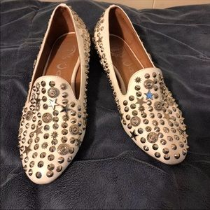Jeffrey Campbell Studded loafers in white